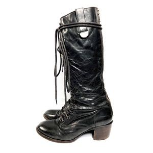 Freebird Tall Lace-Up Granny Boots